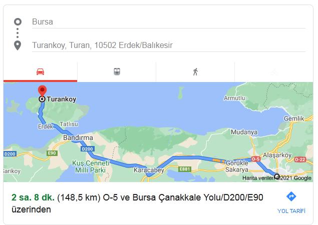 Bursa'dan Erdek Turanköy'e Nasıl Gidilir